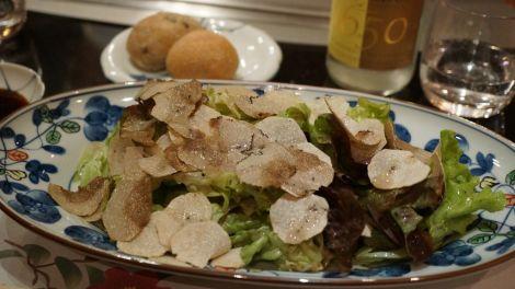 Salade de truffes blanches