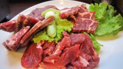 Les viandes : entrecôte, filet et langue