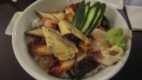 Sashimi d'anguille