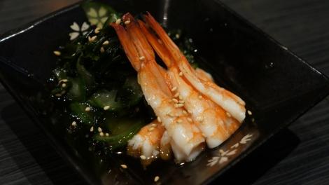 Salade d'algues aux crevettes