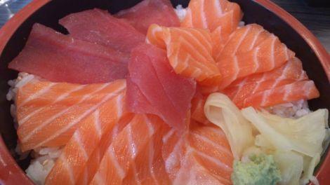 Chirashi saumon et thon rouge