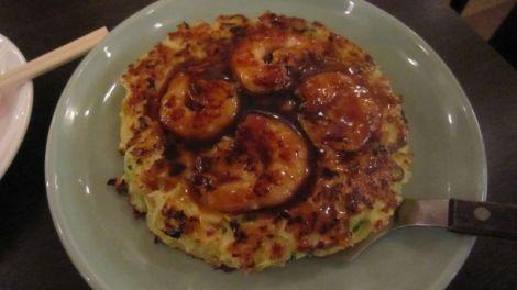 Okonomiyaki crevettes