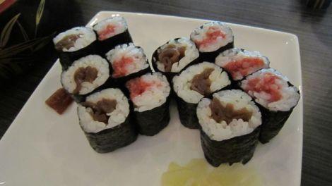 Maki à la courgette et à la prune