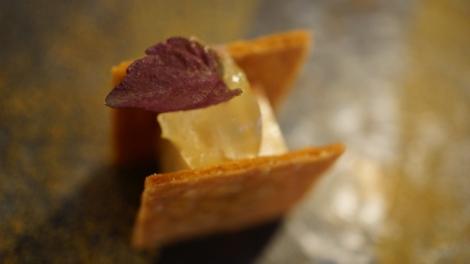 Foie gras au yuzu rouge