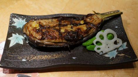 Aubergine grillée au miso
