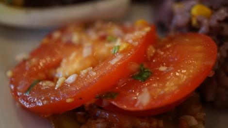 Tomates au coriandre