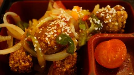 Poulet frit sauce aigre-douce