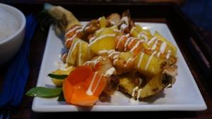Sauté aigre-doux de crevettes à l'ananas