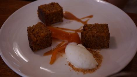 Carott Cake, carotte caramélisée et glace mascarpone