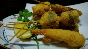 Lotus, saumon, poulet, crevette et shiitake