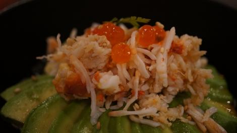 Salade crabe et avocat